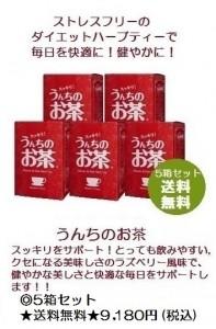 うんちのお茶5箱セット送料無料